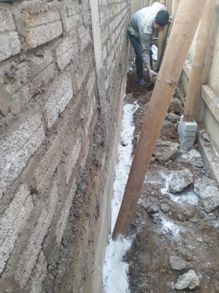Đào hào chống mối công trình xây dựng tại Bắc Giang